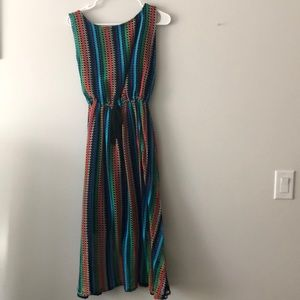 Colorful Anthropologie dress